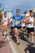 VALENCIA, SPAIN - NOVEMBER 15 : Runners compete in the 10K IX Vuelta a Pie Valencia run on November,