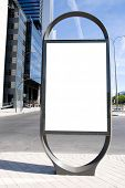 stock photo of bus-shelter  - Ad Space on a city Street - JPG