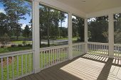 stock photo of screen-porch  - screened - JPG