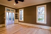 picture of windows doors  - large unfurnished bedroom or diningroom with open doors to porch - JPG