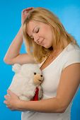 Woman With Toy poster