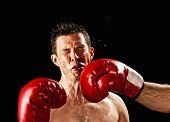 stock photo of revenge  - boxer actually being hit - JPG