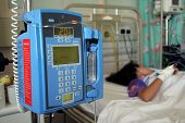 stock photo of icu  - Young girl resting in a hospital icu  - JPG