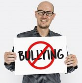 Aggressive Behavior No Bullying Icon poster