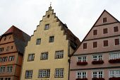 Ancient Architecture, Rothenburg Ob Der Tauber, Medieval Old Town In Germany poster