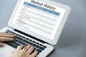 Постер, плакат: Medical Examination Report History History