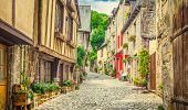 Beautiful Alley Scene In An Old Town In Europe poster
