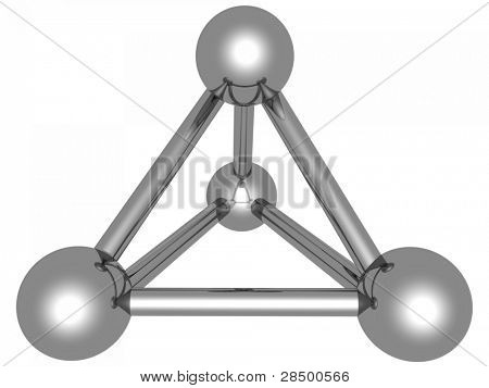 Atom - Chrome Spheres Connections