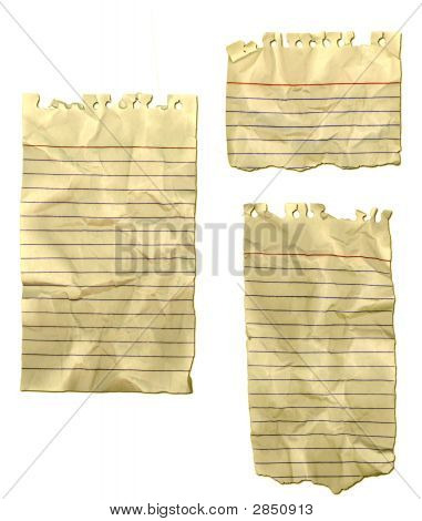 Ripped Wrinkled Old Note Paper
