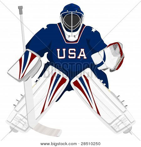 Team USA hockey goalie