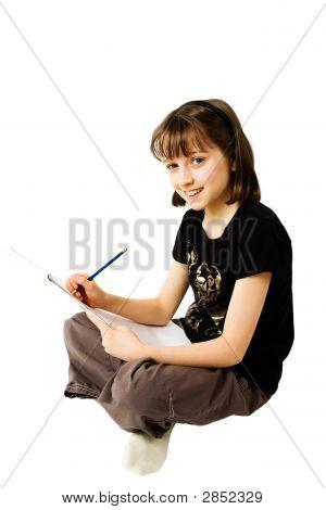 Girl Sketching 1