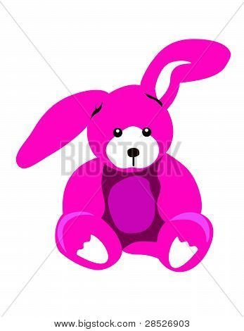 Pink Bunny Illustration