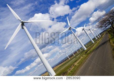 Windmills In Wind-Farm