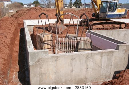 Home Foundation Construction Site