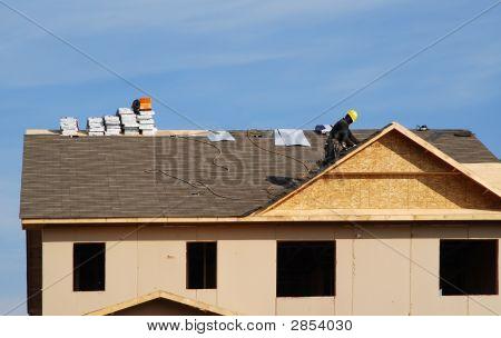 Roofer On The Job