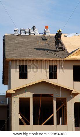 Roofer On The Job (Vertical)