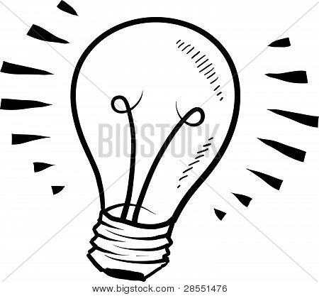 Light bulb or idea sketch