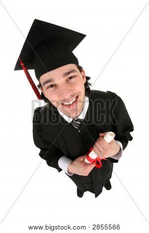 Male Student Graduating