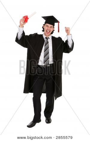 Hombre estudiante graduado