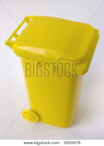 Yellow Wheelie Bin