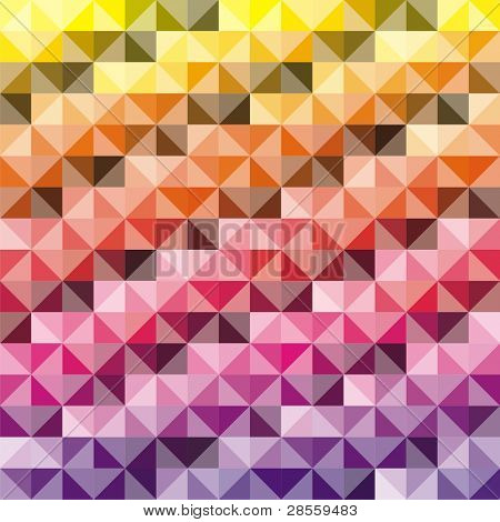 VECTOR - Abstract background - Combination of triangle and square - 512 Colors used in attractive gradual method