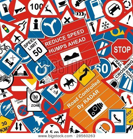 VECTOR - Traffic Signs Background