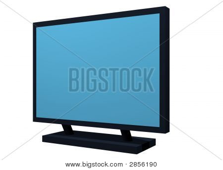 Monitor Lcd Plasma Tv Object For Diagram And Presentation