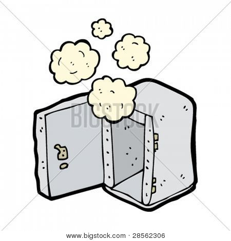 dusty old safe cartoon