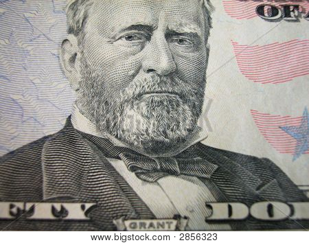 Fifty Dollar Bill-Grant Centered