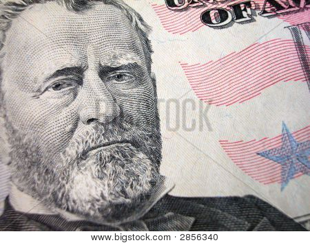 Fifty Dollar Bill-Grant On Left