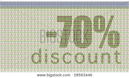 Discount Coupon -70%