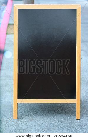 Blank sandwich board sign