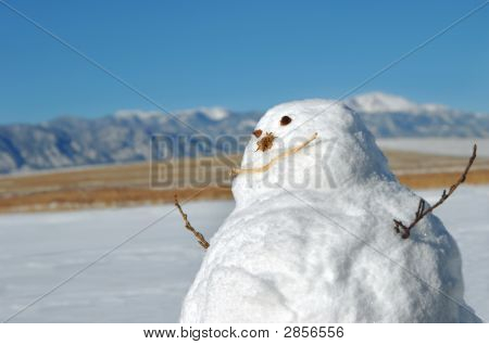 Colorado Rockies und Schneemann