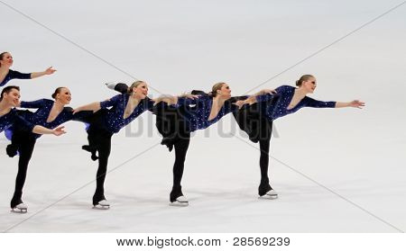 Team Nexxice, of Canada, competes in the 2011 World Synchronized Skating Championships 2011