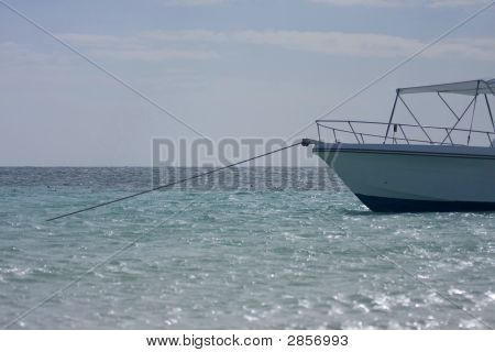 Anchored Boat