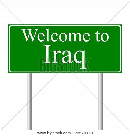 Welcome to Iraq, concept road sign