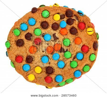 Cookie With Colorful Candies
