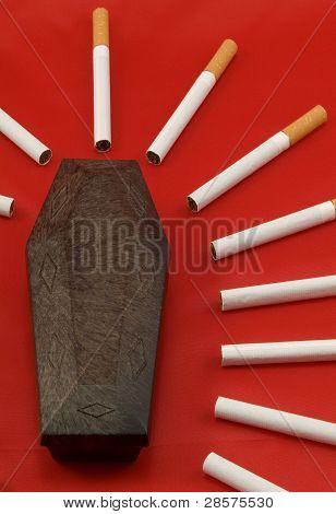 Coffin and cigarettes