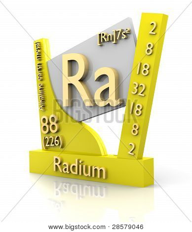 Rádio forma periódica tabela de elementos - V2
