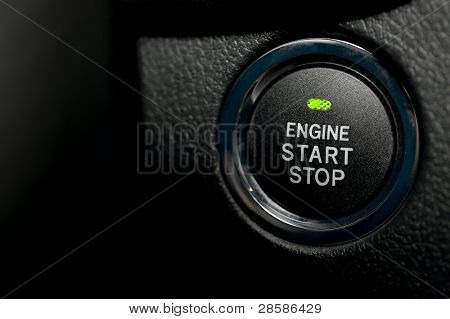 Engine start stop button of a car