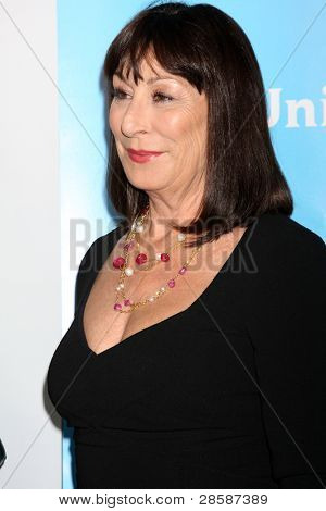 LOS ANGELES - JAN 6:  Anjelica Huston arrives at the NBC Universal All-Star Winter TCA Party at The Athenauem on January 6, 2012 in Pasadena, CA
