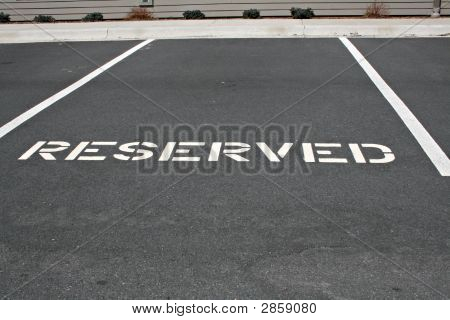Reserved Parking Space