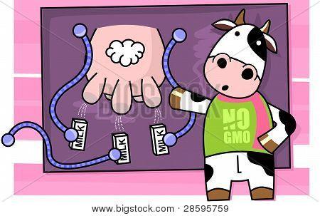 Anti GMO Cow
