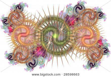 Fractal amoeba