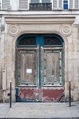 Old Door In The Center Of Paris. Textured Door. Vintage Door poster