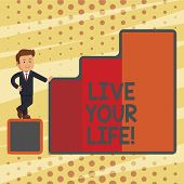 Conceptual Hand Writing Showing Live Your Life. Business Photo Text Motivation Inspiration To Follow poster