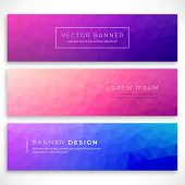 Set Polygonal Background For Site, Brochure, Banner And Covers. Minimal Gradient Low Poly Covers Des poster