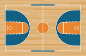 Basketball Court Floor With Line On Wood Pattern Texture Background. Basketball Field. Vector. poster