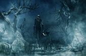 Nightmare With Bogeyman,boy Being Kidnapped By A Mythical Creature Call Bogeyman In Creepy Forest,3d poster