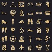 Active Sport Icons Set. Simple Style Of 36 Active Sport Vector Icons For Web For Any Design poster